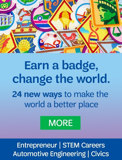 Earn a badge, change the world. 24 new ways to make the world a better place. More. Entrepreneur | Stem Careers | Automotive Engineering | Civics